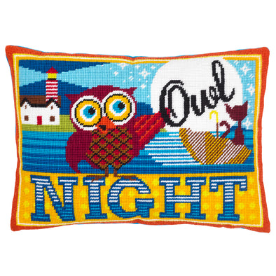 Night Owl Needlepoint Kit - Hannah Bass