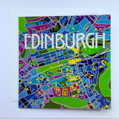 Edinburgh City Map Greeting Card - Hannah Bass