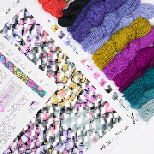 Rome City Map Needlepoint Kit - Hannah Bass