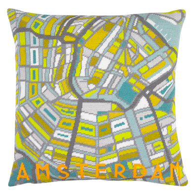 Amsterdam City Map Needlepoint Kit - Hannah Bass