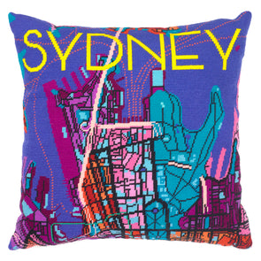 Sydney Night City Map Needlepoint Kit - Hannah Bass