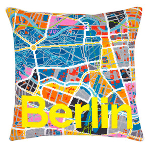 Berlin City Map Needlepoint Kit - Hannah Bass