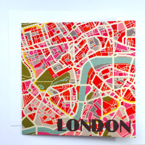 London Light City Map Greeting Card - Hannah Bass