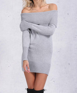 Lana Off Shoulder Knit Dress