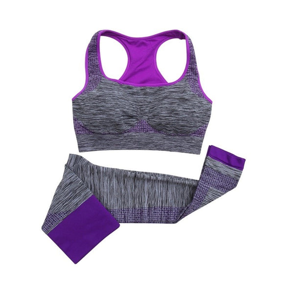 Lorenia 2 piece Sports Bra and Crop Leggings