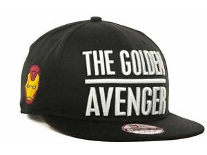 The Golden Avenger Ironman Marvel Avengers New Era 9Fifty Snapback