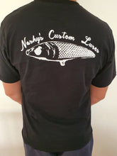Load image into Gallery viewer, Nashys Custom Lures Black Short Sleeve Tee 100% cotton
