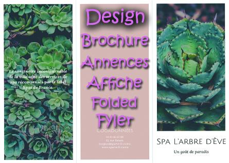 Design Brochure . Fyler. Affiche .Folded.Annences
