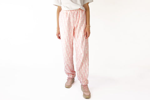 Cozy Pants with baby pink CD Monograms print