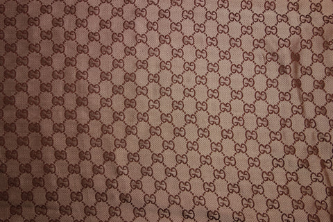 Beige and brown jacquard fabric with GG monograms