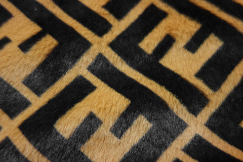 golden fendi zucca faux fur fabric