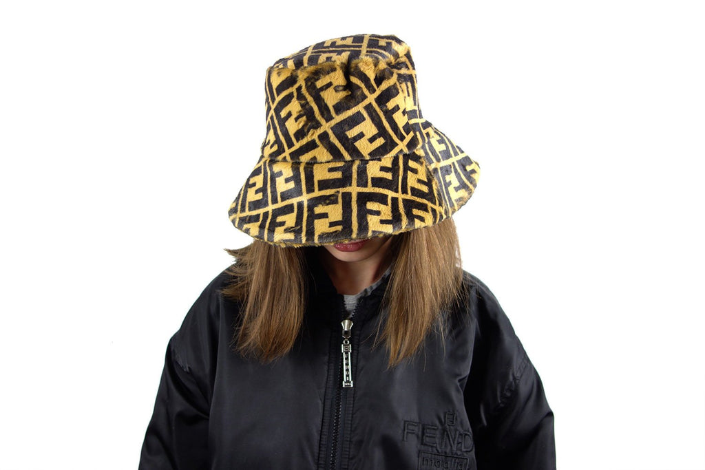 0299a4464d4 Hand made bucket hat with Fendi Zucca Inspired Monogram print