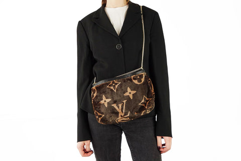 Cozy dark brown louis vuitton shoulder bag