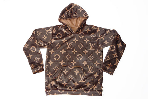 Dark brown louis vuitton hoodie