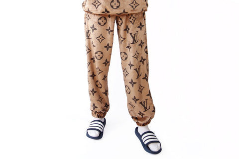 Louis Vuitton monogram brown cozy pants
