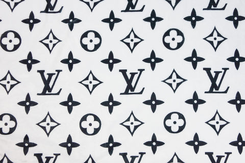 Cozy white louis vuitton fabric
