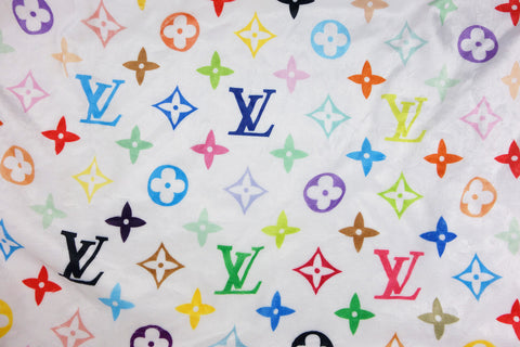 Cozy white louis vuitton fabric multi-color monogram