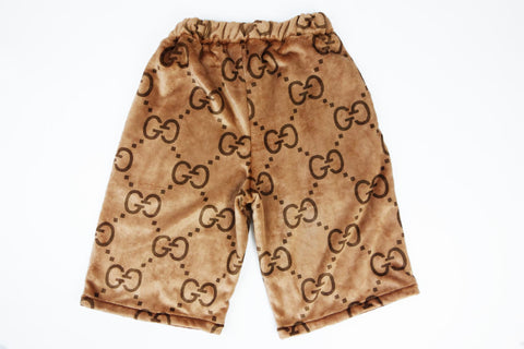 Gucci monogram brown cozy shorts
