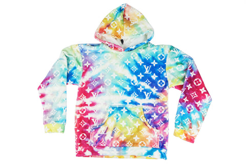 Louis Vuitton monogram Tie dye cozy hoodie
