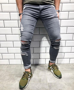 Stretch Slim Handmade Fashion Jeans