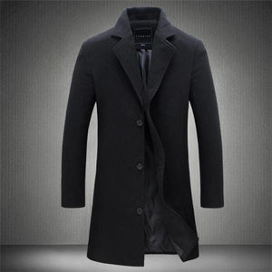 Business Fashion Slim Solid Color Long Sleeve Mens Suit Outerwear