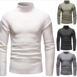 Men's High Neck Casual Sweater