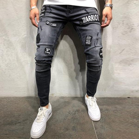 Fashion Patch Slim-Fit Pants