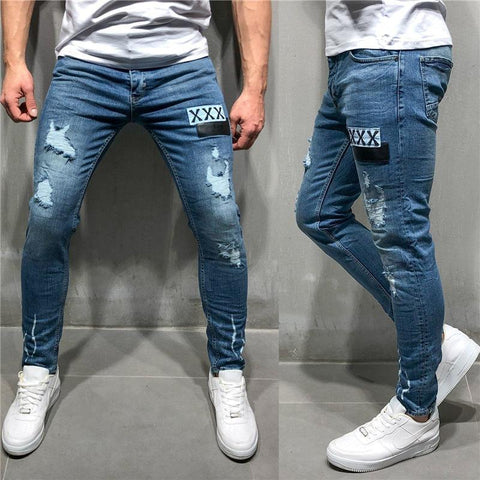 New   Best-Selling Badge Worn Jeans