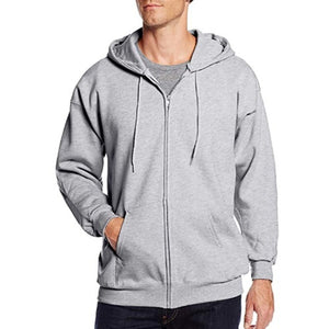 2019 Men's Casual Zipper Hooded Sweater Coat