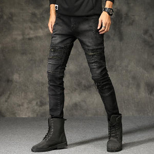 Fashion Sports Leisure Hole Jeans