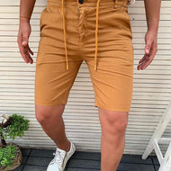 Casual Pure Colour Straight Type Shorts
