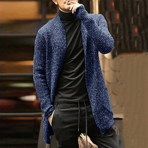 Fashion Casual Solid Long-Sleeved Knit Sweaters