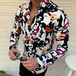 Individuality Creative Portrait Printed Shirt
