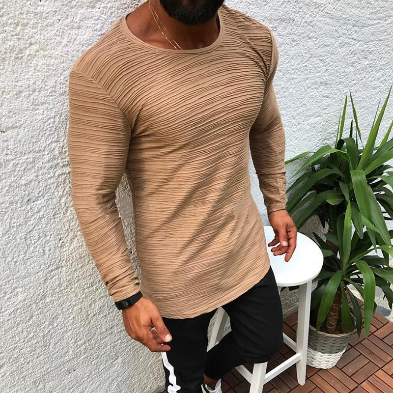 Casual Stripe Round Neck Long Sleeve T-Shirt