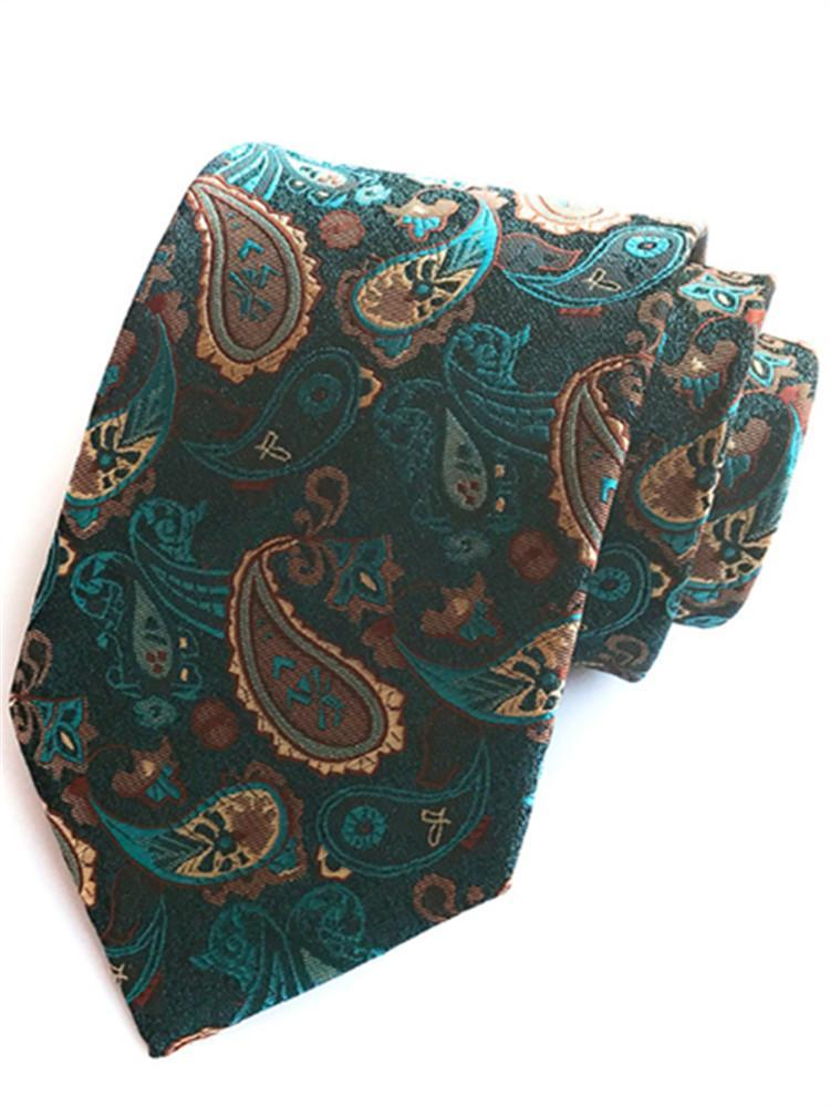 Fashion Big Waist Flower Paisley Jacquard Ties