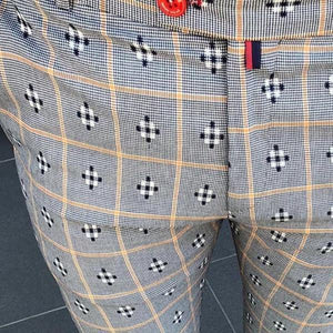 Men's  Casual Elastic Waist Printed Pencil Pants