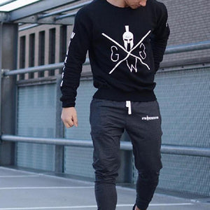 Sports Youth Printed Round Neck Long Sleeve Men's Sweatshirt