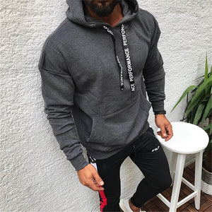 Street Fashion Drawstring Hooded Sweater