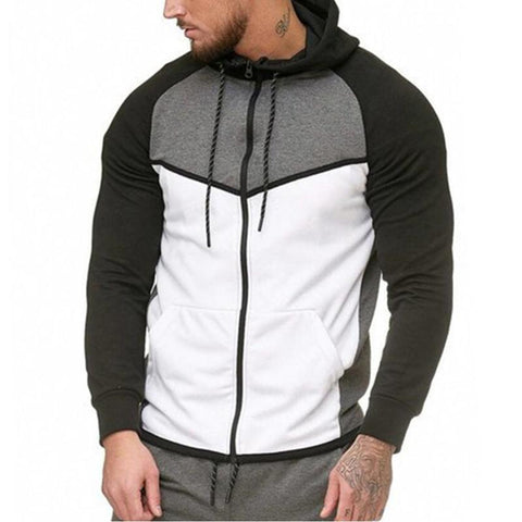 Men's Color Matching Sports Cardigan Sweaters