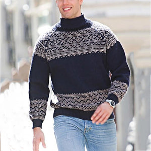 Men's Long Sleeve Embroidered Sweater