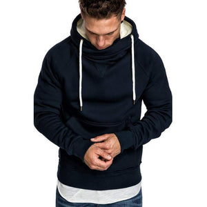 Fashion Loose Stand Collar Hooded Sweatshirt