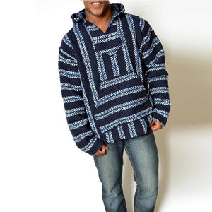 Casual Striped Long Sleeves Baja Hoodie