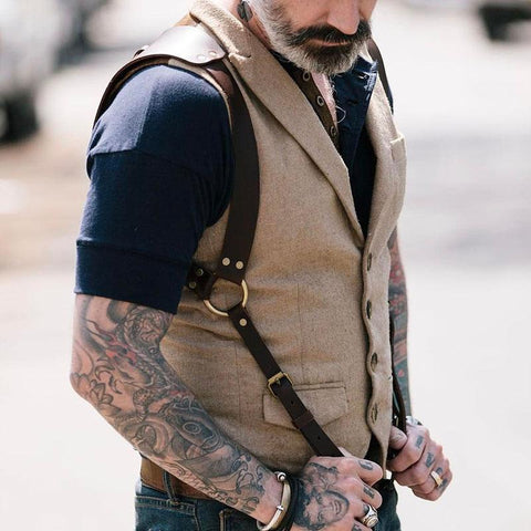 Fashion Single-Breasted Solid Color Vest