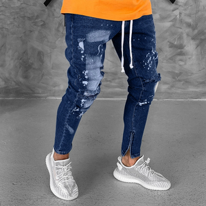 Broken Zippered Foot Fashion jeans