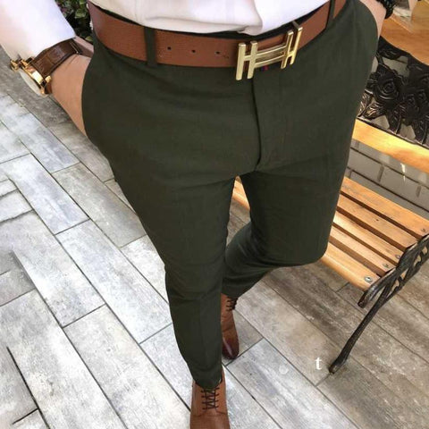 New Men's Casual Solid Color Pants