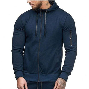 Men's Slim Sports Cardigan Sweater Arm Zipper Casual Jacket