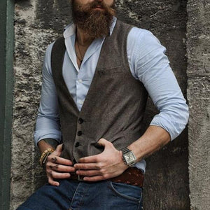 Casual Pure Color Single-Breasted Vest