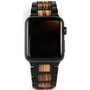 Wooden Apple Watch Strap | Zebrawood | 42/44mm