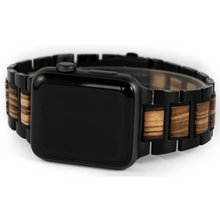 Load image into Gallery viewer, Wooden Apple Watch Strap | Zebrawood | 42/44mm