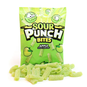 Sour Punch Bites Apple 5oz Hanging Bag 12 Ct Case Pk